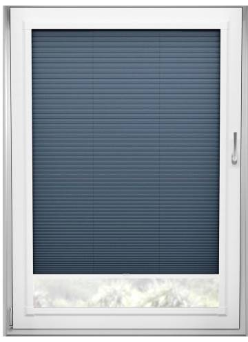Perfect Fit Pleated Blinds Cellular Navy Blue