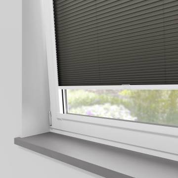 Perfect Fit Pleated Blinds Cellular Nightfall Grey