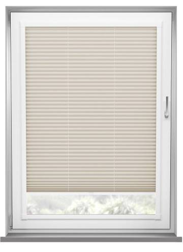 Perfect Fit Pleated Blinds Chateau Blackout Cool Beige