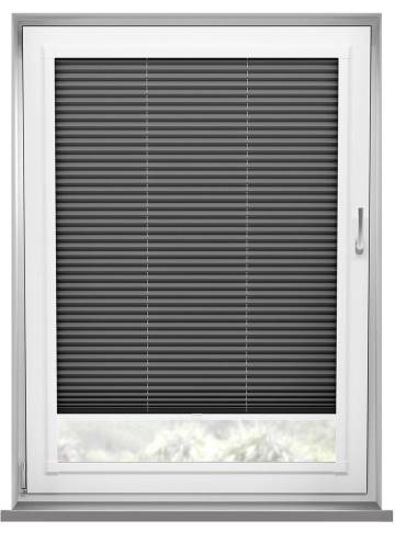 Perfect Fit Pleated Blinds Chateau Blockout Dark Grey