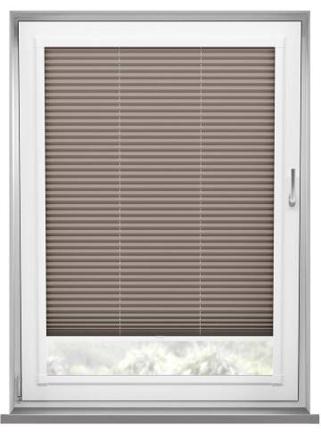 Perfect Fit Pleated Blinds Chateau Blockout Hazelnut