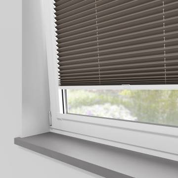 Perfect Fit Pleated Blinds Chateau Blackout Mocha