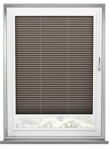 Perfect Fit Pleated Blinds Chateau Blockout Mocha
