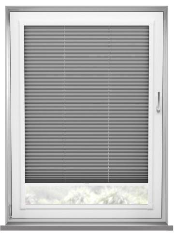 Perfect Fit Pleated Blinds Chateau Blockout Slate Grey