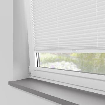 Perfect Fit Pleated Blinds Chateau Blackout White