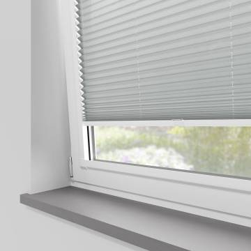 Perfect Fit Pleated Blinds Kana Light Grey