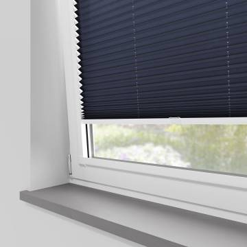 Perfect Fit Pleated Blinds Kana Navy Blue