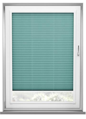 Perfect Fit Pleated Blinds Kana Turquoise