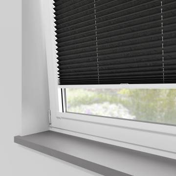 Perfect Fit Pleated Blinds Mirabella Solar Crush Black