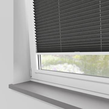 Perfect Fit Pleated Blinds Mirabella Solar Crush Graphite