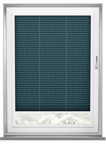 Perfect Fit Pleated Blinds Mirabella Solar Crush Ink Blue