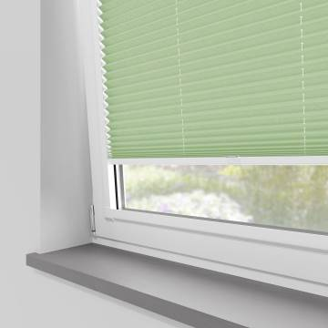 Perfect Fit Pleated Blinds Mirabella Solar Crush Mint Green