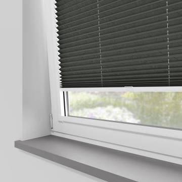 Perfect Fit Pleated Blinds Mirabella Solar Crush Pewter Sheen
