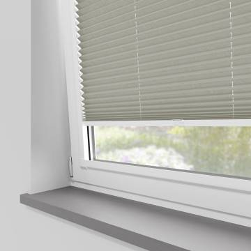 Perfect Fit Pleated Blinds Mirabella Solar Crush Silver Grey