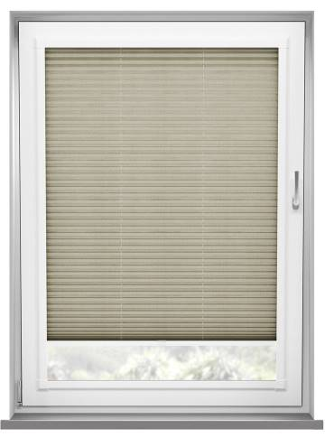Perfect Fit Pleated Blinds Sylvan Linen Beige Brown