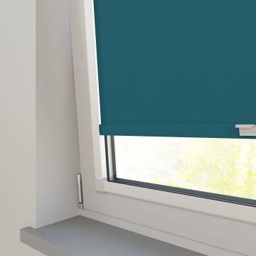 Perfect Fit Roller Blinds Oslo Blackout Dark Teal Blue