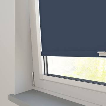 Perfect Fit Roller Blinds Oslo Blackout Indigo Blue