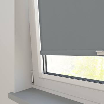 Perfect Fit Roller Blinds Oslo Blackout Mid Grey