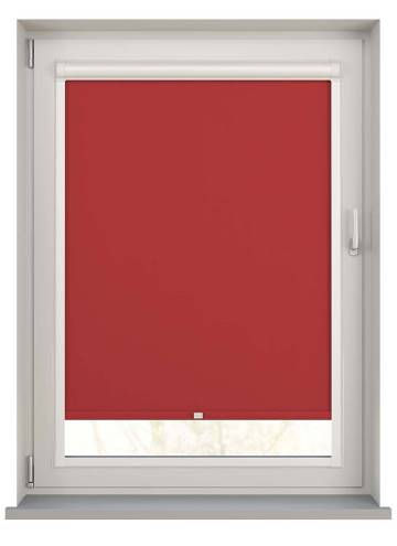 Perfect Fit Roller Blinds Oslo Blackout Scarlet Red