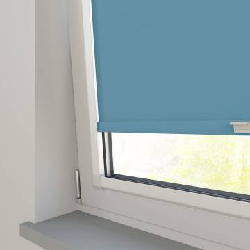 Perfect Fit Roller Blinds Oslo Blackout Smoke Blue