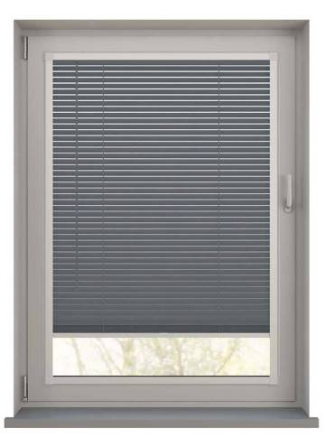 Perfect Fit Wooden Blinds Zambezi 25mm Anthracite Grey