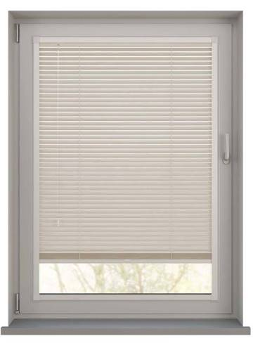 Perfect Fit Wooden Blinds Zambezi 25mm Mirren Cream