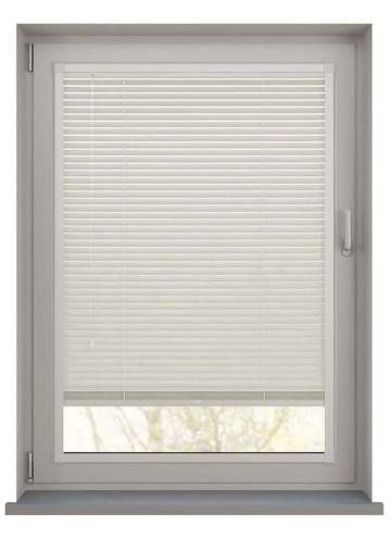 Perfect Fit Wooden Blinds Zambezi 25mm Polar White