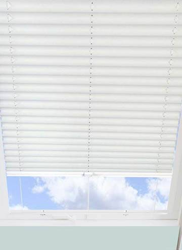 Pleated Skylight Blinds Calia Solar Flame Retardant White