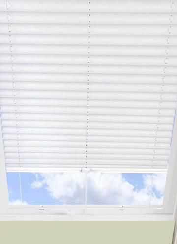 Pleated Skylight Blinds Galaxy Solar Blackout White