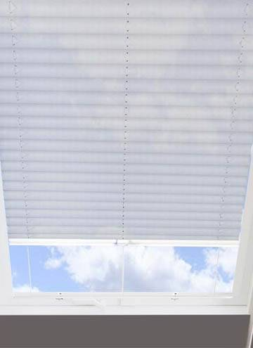 Pleated Skylight Blinds Hampton Silver - Translucent