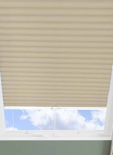 Pleated Skylight Blinds Hive Blackout Barley