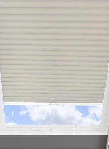 Pleated Skylight Blinds Hive Blackout Cream
