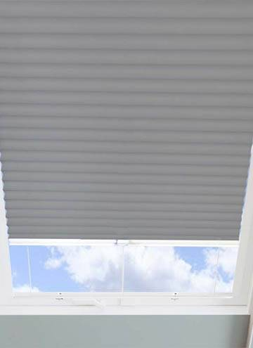 Pleated Skylight Blinds Hive Blackout Flame Retardant Concrete