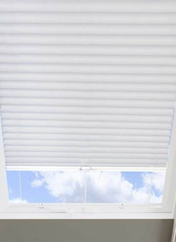Pleated Skylight Blinds Hive Blackout Flame Retardant White