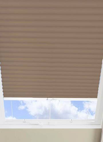 Pleated Skylight Blinds Hive Blackout Fudge