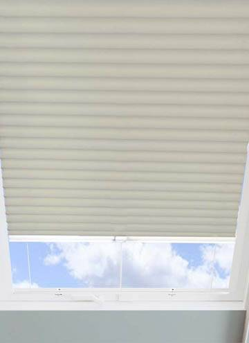 Pleated Skylight Blinds Hive Blackout Hessian