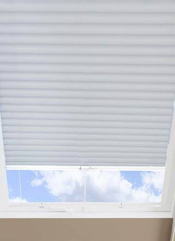 Pleated Skylight Blinds Hive Blackout White
