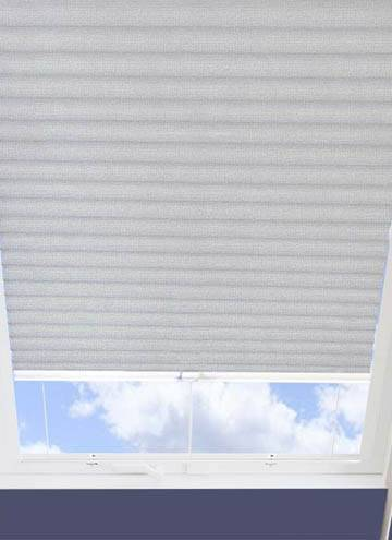 Pleated Skylight Blinds Hive Matrix Blackout Silver