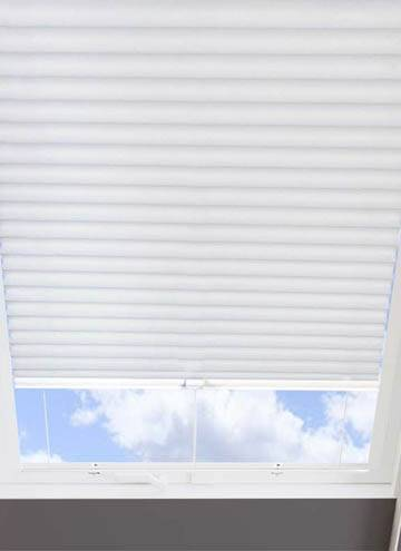 Pleated Skylight Blinds Hive Plain Cellular White