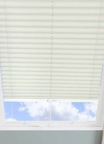 Pleated Skylight Blinds Infusion Cream