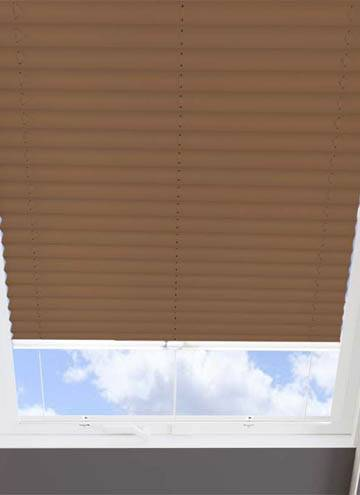 Pleated Skylight Blinds Infusion Solar Coffee