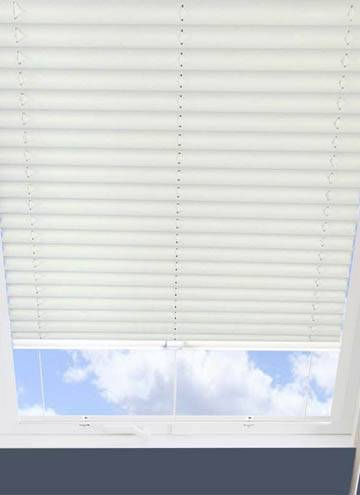 Pleated Skylight Blinds Infusion Solar Flame Retardant White