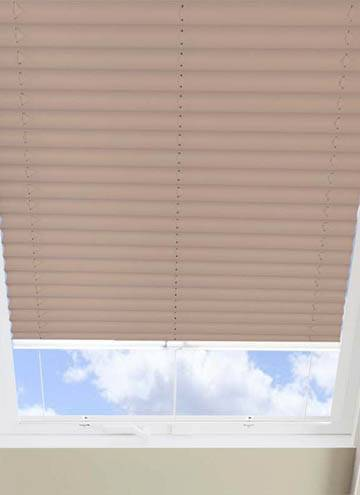 Pleated Skylight Blinds Infusion Solar Taupe