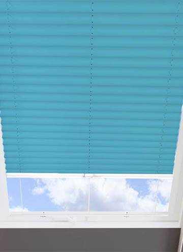 Pleated Skylight Blinds Infusion Solar Teal