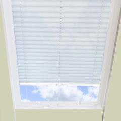 Pleated Skylight Blinds Hampton White - Translucent