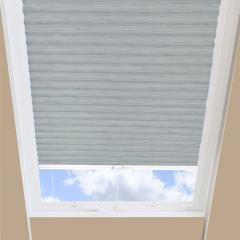 Pleated Skylight Blinds Hive Silkweave Blackout Ash