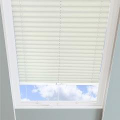 Pleated Skylight Blinds Infusion Solar Cream