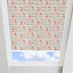 Pleated Skylight Blinds Meadow Flower Solar Redcurrant