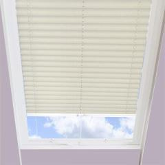 Pleated Skylight Blinds Ribbons Solar Cream