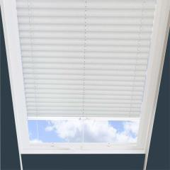 Pleated Skylight Blinds Ribbons Solar White